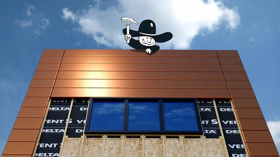 Zimmerei Elwardt - Fassadenbau - Illustration